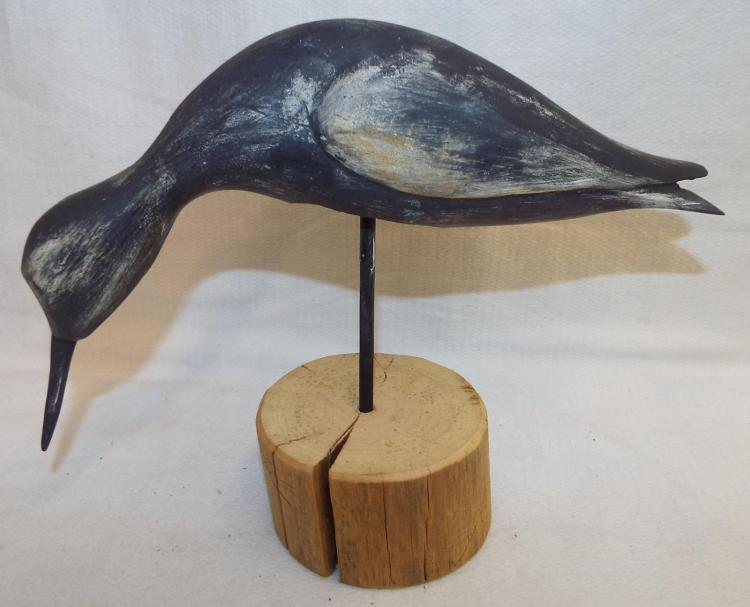 Bob Lee Hand Carved And Painted Bird Nodder