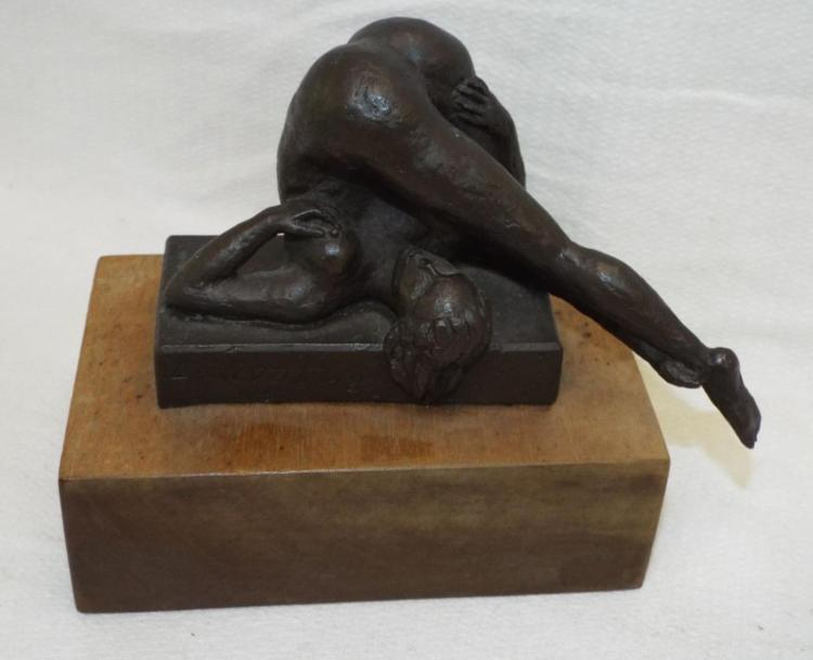 L. Vivot Bronze Sculpture Of Nude Woman