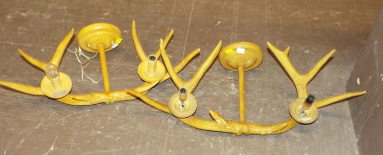 Pair Of Two Light Horn Wall Sconces