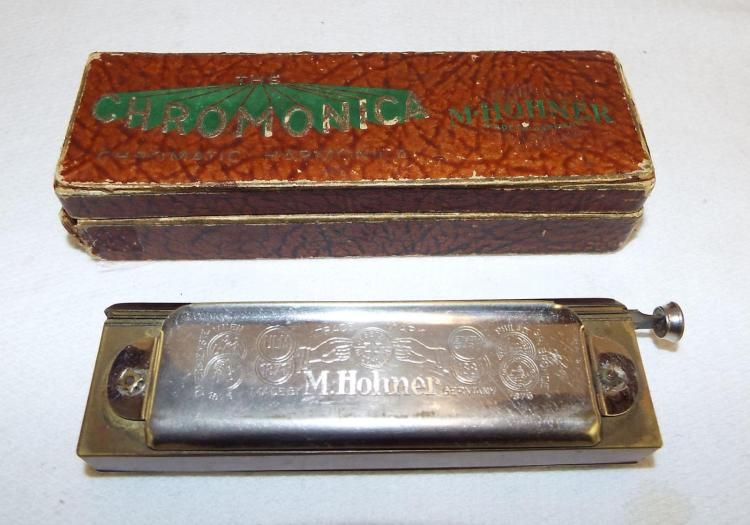 M. Hohner Germany Chromatic Harmonica In Box