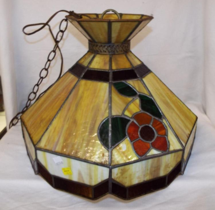 Slag Glass Hanging Light