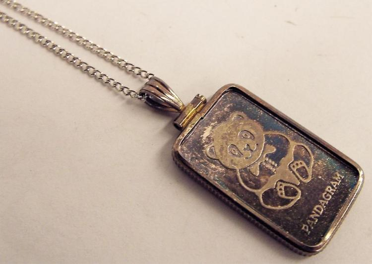 Sterling Necklace With Singapore Mint 999 Pendant