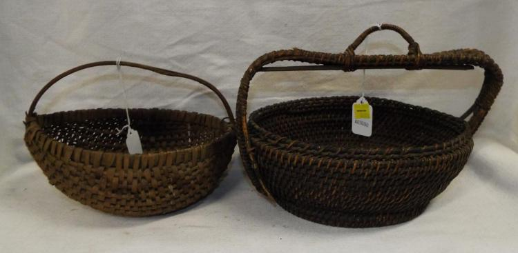 Two Small Woven Baskets