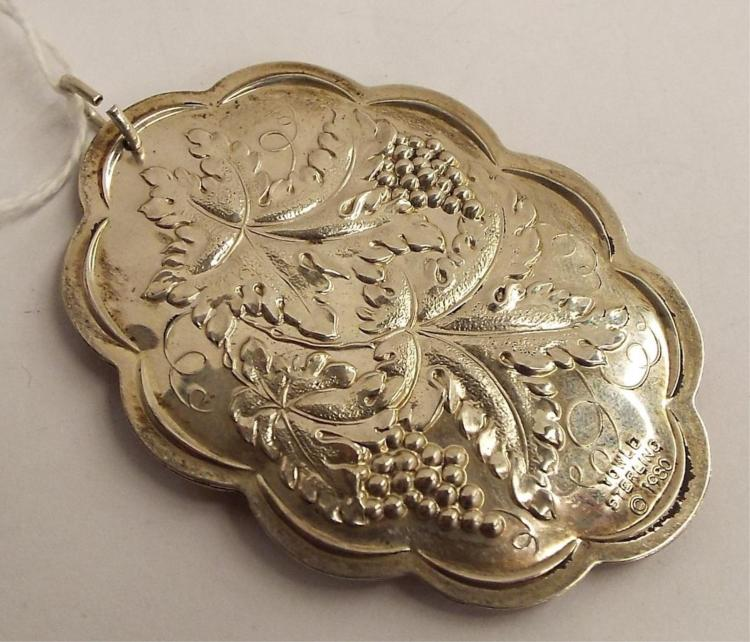 Towle Sterling Silver 1980 Christmas Pendant