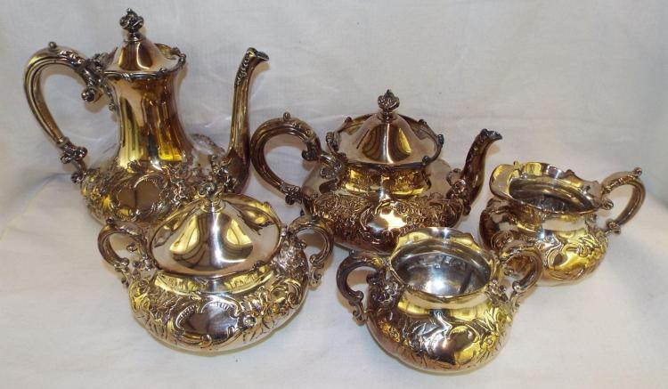 Wilcox Silver Plate Five Piece Tea Set