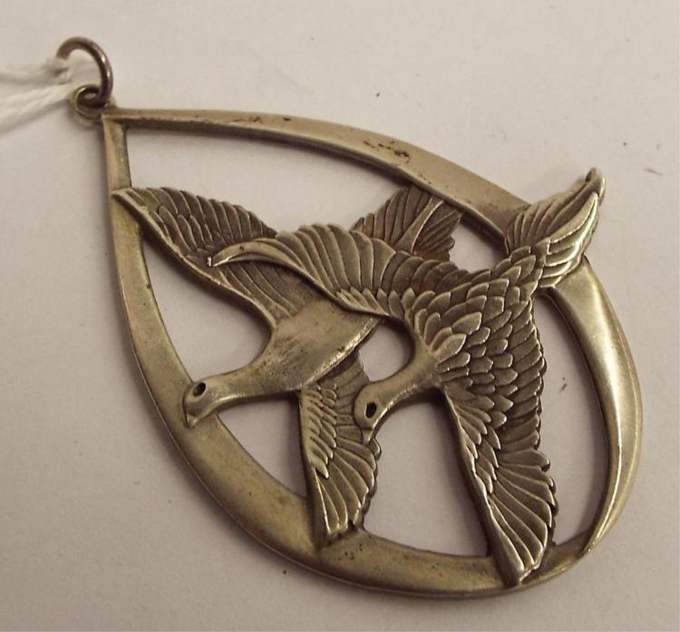 Wallace Sterling Silver 1972 Pendant