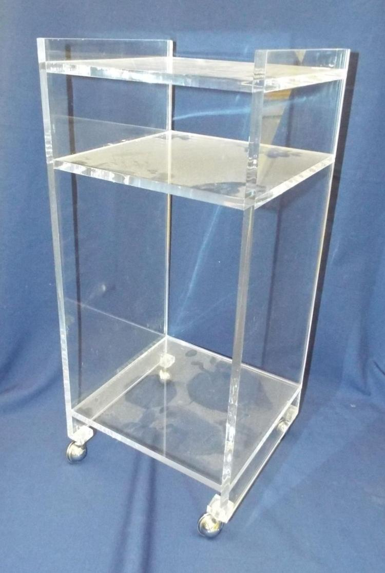 Lucite Three Tier Cart