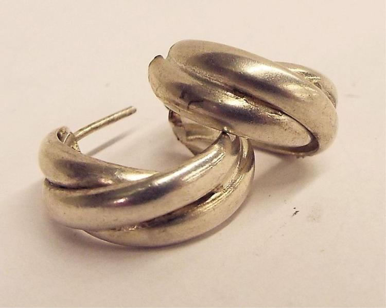 Paiir Of Sterling Silver Earrings