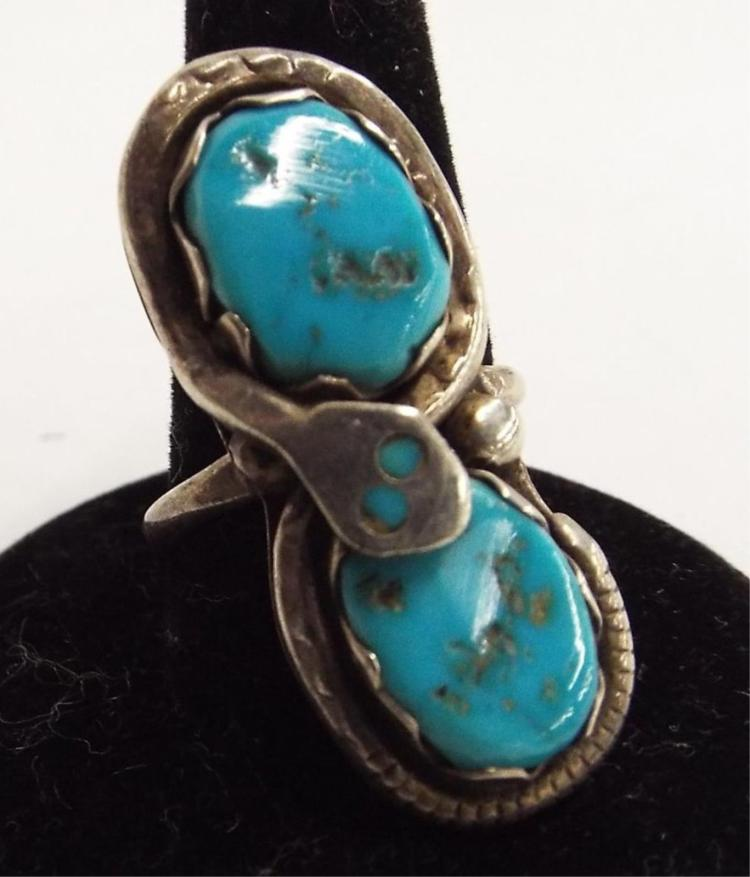 Effie C. Zunie Sterling Silver & Turquoise Ring