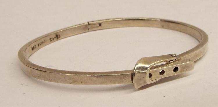 Mexico Sterling Silver Bangle Bracelet