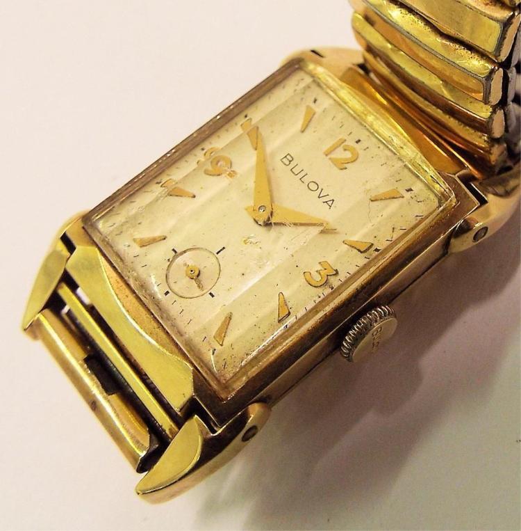 10k gold filled bulova wrist