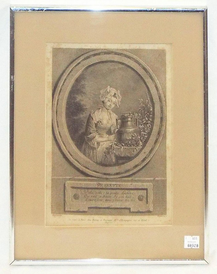 Framed French Engraving