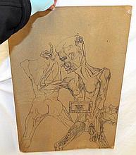 Signed N. Sperakis Drawing