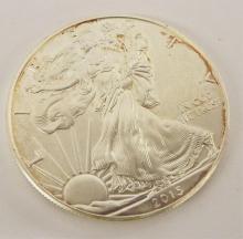 1 Oz. Fine Silver One Dollar Coin, 2015 Eagle