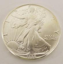 1 Oz. Fine Silver One Dollar Coin, 1986 Eagle