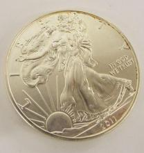 1 Oz. Fine Silver One Dollar Coin, 2011 Eagle