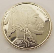 1 Oz. Fine Silver Coin, 2002