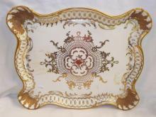 Gilt Decorated Porcelain Platter, Western Germany