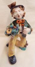 Glazed Redware Pottery Clown Figure
