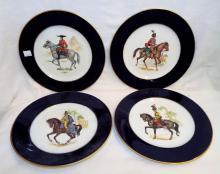 4 Western Germany Fine Porcelain Plates