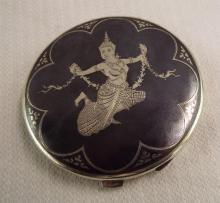 Siam Sterling Silver Compact