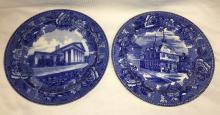 2 Wedgwood Etruria Historical Plates