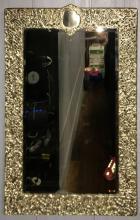 Hallmarked Silver Beveled Glass Mirror