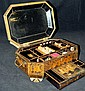 Oriental Sewing Box with Ivory Sewing Tools