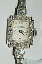Girard Perregaux platinum & diamond ladies watch