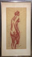 Artist Signed Drawing Of Nude
