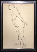 Drawing Signed F. Landeberg