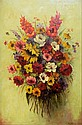 Engelbert Kothera oil on canvas, flowers