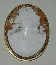 Tiffany 10K Gold Cameo Pin