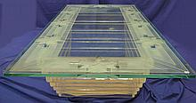 Glass Top Lucite Table