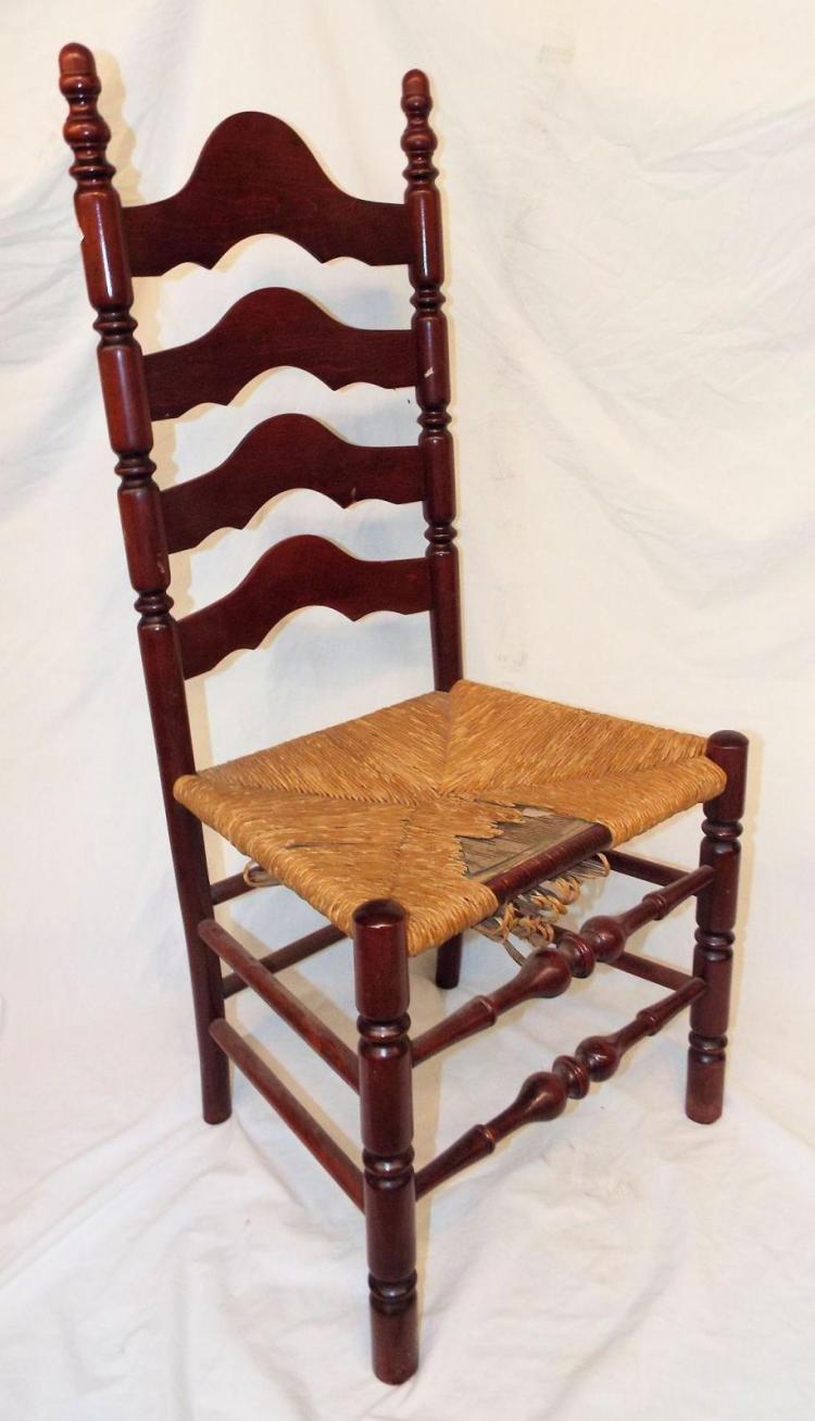 Rush Bottom Ladder Back Chair