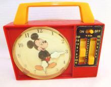 Walt Disney Illco Pre School Toy, Clock Radio