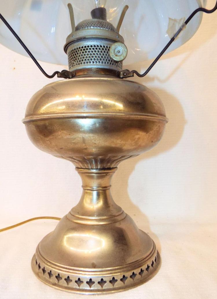 Rayo Lamp With White Glass Shade Amp Chimney