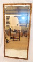 Beveled Glass Mirror In Gilt Carved Wooden Frame