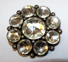 Sterling Silver Pin With White Stones