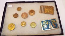 Group Of Belt Buckles & Medals