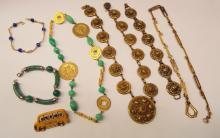 Group Of Costume Jewelry Necklaces & Bracelets