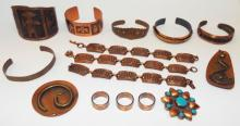 Group Of Copper Costume Jewelry