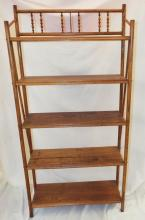 Oak Five Tier Shelf
