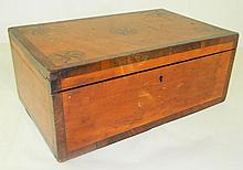 Inlaid Storage Box with Interior Compartments