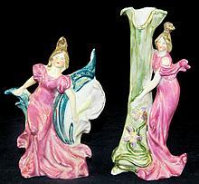 Pair of Figural Vases