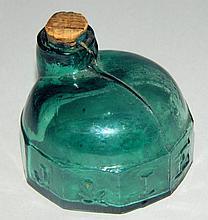 Dark Aqua Green Turtle Ink Bottle, Rare Color