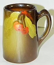 Owens Pottery Mug with Fruit Design