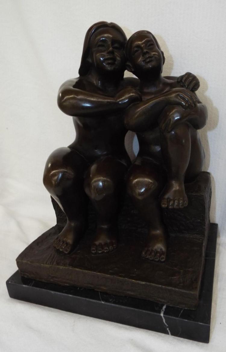European Bronze Finery Sculpture Signed Botero