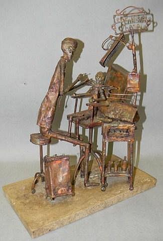 J Lewk Metal Sculpture Quot Ear Nose Throat Quot