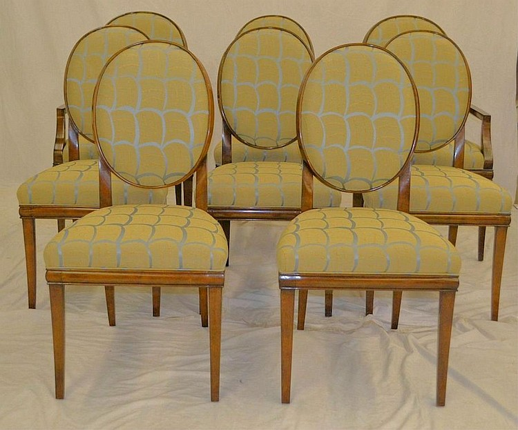Set of eight dining room chairs for Dining room furniture auctions
